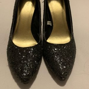 Mossimo Supply Co. Shoes - Black Sequin Pumps